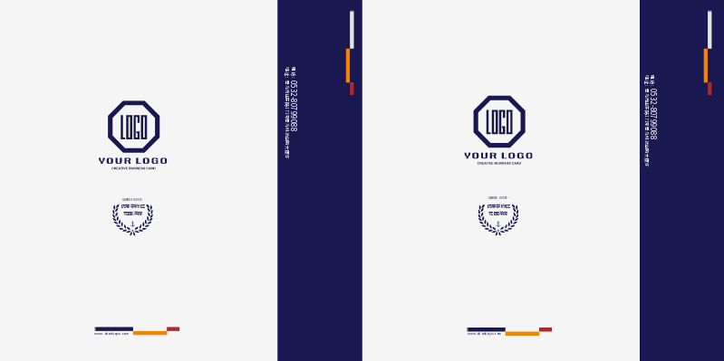 藍灰色手提袋在線設計效果圖