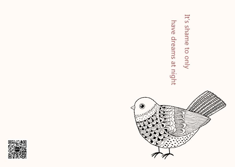线稿图小鸟简洁记事本