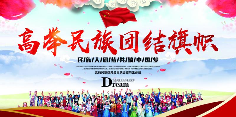 免费 展板 0人编辑 高举民族团结旗帜中国风展板 免费 展板 0人编辑