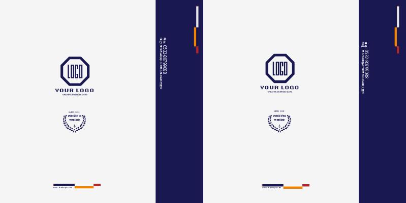 蓝灰色手提袋在线设计效果图